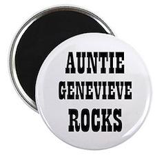 "AUNTIE GENEVIEVE ROCKS 2.25"" Magnet (10 pack)"