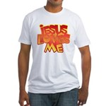 Jesus Loves Me Christian Fitted T-Shirt