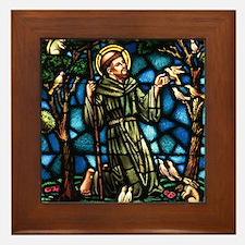 St Francis of Assisi Framed Tile
