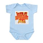 Jesus Loves Me Christian Infant Creeper