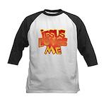 Jesus Loves Me Christian Kids Baseball Jersey