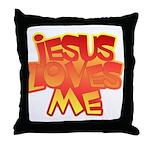 Jesus Loves Me Christian Throw Pillow