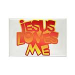 Jesus Loves Me Christian Rectangle Magnet (100 pac