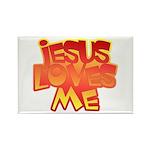 Jesus Loves Me Christian Rectangle Magnet (10 pack