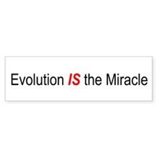 Evolution is the Miracle Bumper Car Sticker