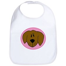 Pink Golden Retriever Bib