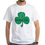 Ireland Shamrock White T-Shirt
