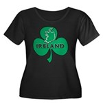 Ireland Shamrock Women's Plus Size Scoop Neck Dark