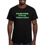 So Irish I Poop Shamrocks Men's Fitted T-Shirt (da