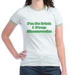 So Irish I Poop Shamrocks Jr. Ringer T-Shirt