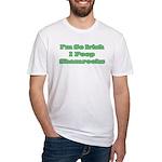 So Irish I Poop Shamrocks Fitted T-Shirt