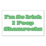 So Irish I Poop Shamrocks Rectangle Sticker