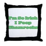 So Irish I Poop Shamrocks Throw Pillow