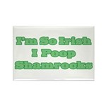 So Irish I Poop Shamrocks Rectangle Magnet (10 pac