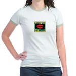 Kiss Me, I'm Irish! Jr. Ringer T-Shirt