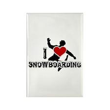 I Love Snowboarding! Rectangle Magnet