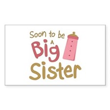 Big Sister To Be Rectangle Decal