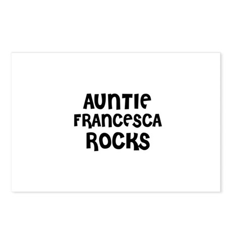 AUNTIE FRANCESCA ROCKS Postcards (Package of 8)