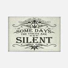 Voices Are Silent Rectangle Magnet