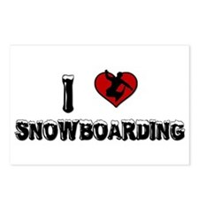 I Love Snowboarding! Postcards (Package of 8)