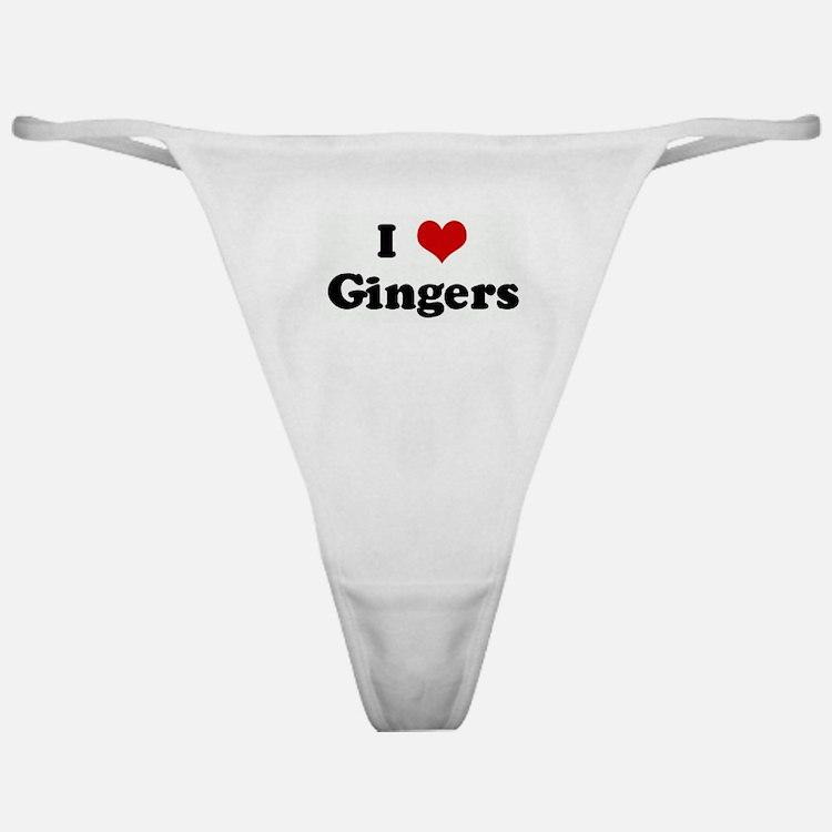 I Love Gingers Classic Thong