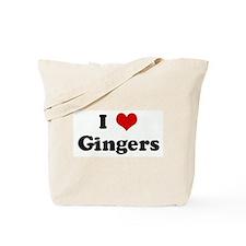 I Love Gingers Tote Bag