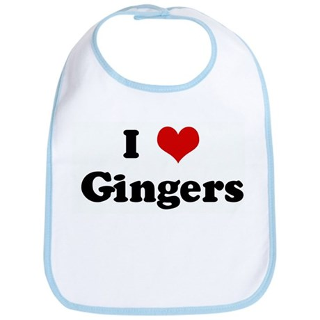 I Love Gingers Bib