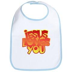 Jesus Loves You Christian Bib