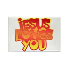 Jesus Loves You Christian Rectangle Magnet (10 pac