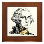President George Washington Framed Tile