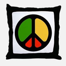 Rasta CND logo Throw Pillow