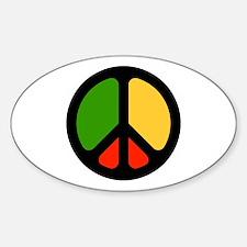 Rasta CND logo Oval Decal