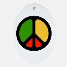 Rasta CND logo Oval Ornament