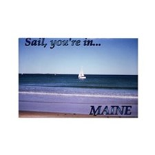 Sail You're In Maine Magnet