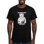 White Robot Men's Fitted T-Shirt (dark)