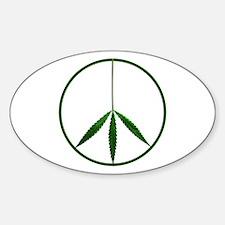 CND leaf Oval Decal