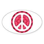 Flower Power Oval Sticker (10 pk)