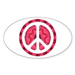 Flower Power Oval Sticker (50 pk)