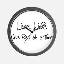 Live Life One Rep at a Time - Wall Clock
