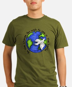 World Peace Gandhi - Funky St T-Shirt