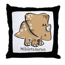 Nibletsaurus Throw Pillow