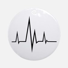 Pulse - Heartbeat Ornament (Round)
