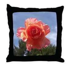 Sky Bloom Throw Pillow