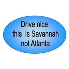 Savannah not Atl Oval Decal