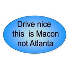 Macon not Atl Oval Decal