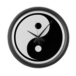 Yin-Yang Large Wall Clock