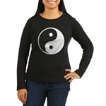 Yin-Yang Women's Long Sleeve Dark T-Shirt