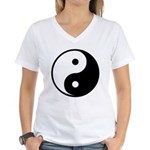 Yin-Yang Women's V-Neck T-Shirt