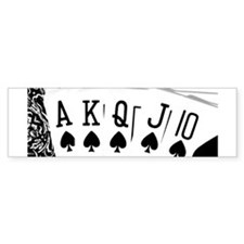 Royal Flush Bumper Bumper Sticker