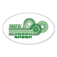 Keepin' It Green Oval Decal